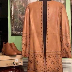 Vintage Oscar de la Renta lamb skin leather jacket